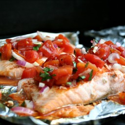 Bruschetta Grilled Salmon