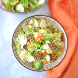 Brussel Sprouts Salad with Orange Ginger Dressing
