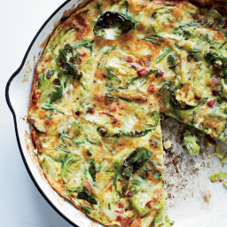 Brussels Sprout, Bacon and Gruyère Frittata