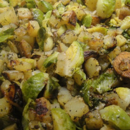 Brussels Sprout-Potato Hash Recipe | Cook the Book