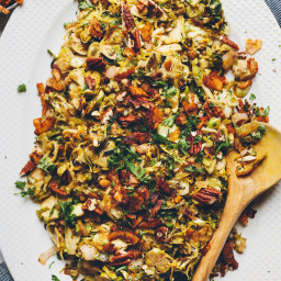 Brussels Sprout Slaw with Coconut Bacon
