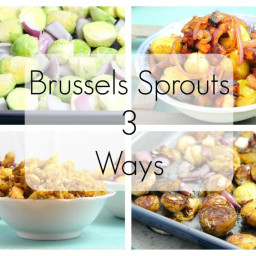 Brussels Sprouts 3 Ways: Pan-fried Brussels Sprouts with Tofu Bacon