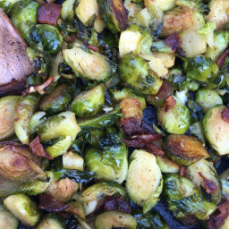 Brussels Sprouts and Bacon {Low Carb / Keto Friendly}