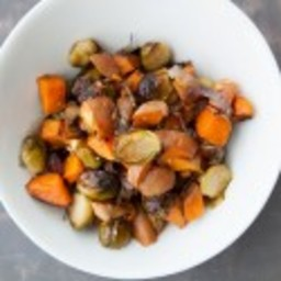 Brussels Sprouts and Sweet Potatoes with Rosemary