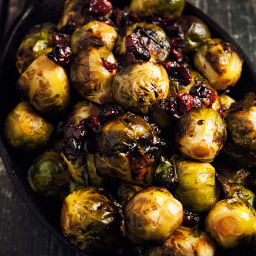 Brussels Sprouts With Balsamic and Cranberries Recipe