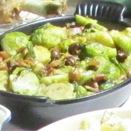 Brussels Sprouts with hazelnuts