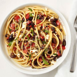 Bucatini With Olive-Caper Sauce