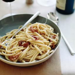 Bucatini with Pancetta, Pecorino and Pepper