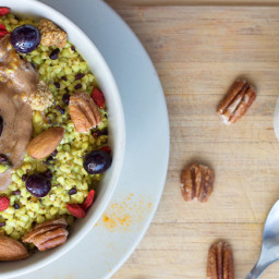 Buckwheat Turmeric Porridge (Vegan and GF)
