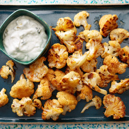 Buffalo Cauliflower with Blue Cheese Sauce