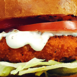 Buffalo Chicken Burger with Blue Cheese Ranch