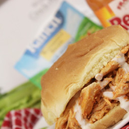 Buffalo Chicken Crock Pot Sandwiches Easy Dinner Recipe