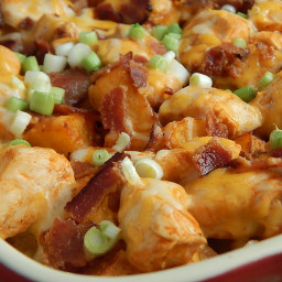 Buffalo chicken potato bake