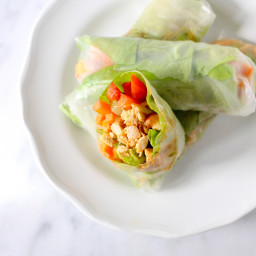 Buffalo Chicken Summer Rolls