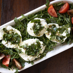 Buffalo Mozzarella Marinated, with Tomato and Arugula