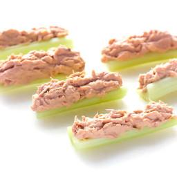 Buffalo Tuna Salad Stuffed Celery Recipe