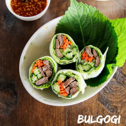 Bulgogi Spring Rolls with Sweet Ssamjang Sauce