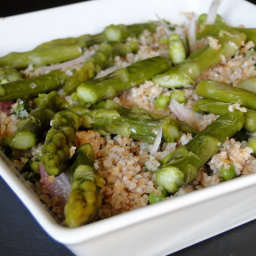 Bulgur with asparagus