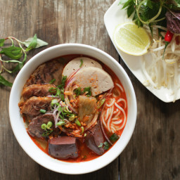 Bún Bò Huế - Spicy Vietnamese Beef and Pork Noodle Soup