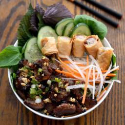 Bún Thịt Nướng Recipe (Vietnamese Grilled Pork and Rice Noodles)
