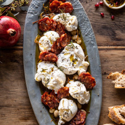 Burrata with Lemon Pepper Salami Bites