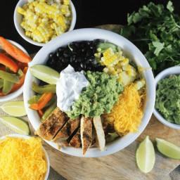 Burrito Bowls with Creamy Enchilada Sauce