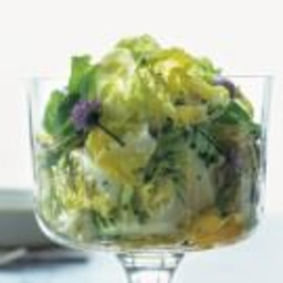 Butter Lettuce Salad with Champagne and Shallot Vinaigrette