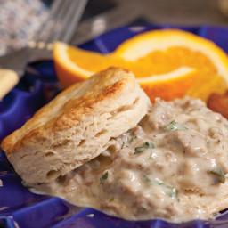 Buttermilk Biscuits and Creamy Sausage Gravy