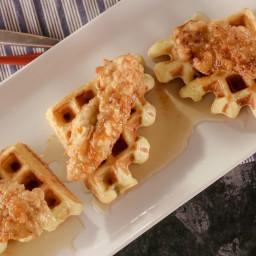 Buttermilk Waffles with Buttermilk Fried Chicken Tenders