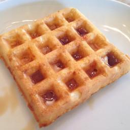 Buttermilk Waffles with Cheddar