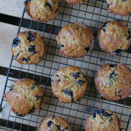 Buttermilk Blueberry Einkorn Muffins
