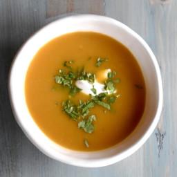 Butternut Soup with Cardamom and Vanilla Yogurt
