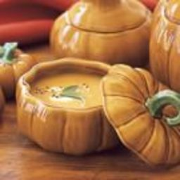 Butternut Squash and Apple Soup with Chestnuts