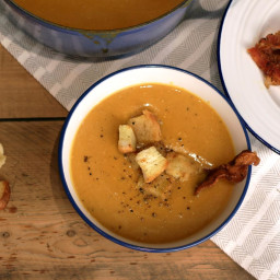 Butternut squash and celeriac soup