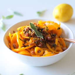 Butternut Squash and Prosciutto Pasta with Lemon Garlic and Sage