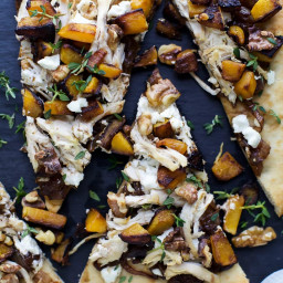 Butternut Squash Chicken Flatbread Pizza