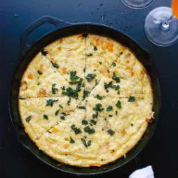 Butternut Squash Frittata with Fried Sage