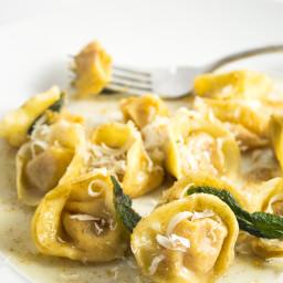 Butternut Squash Ravioli with Browned Butter Sage Sauce (Tortellini di Zucc