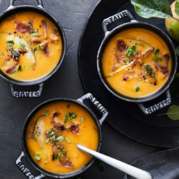 Butternut Squash Soup with Crispy Prosciutto