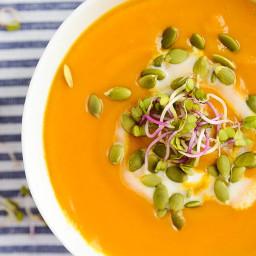 Butternut Squash + Sweet Potato Soup