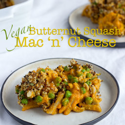 Butternut Squash Vegan Mac 'n' Cheese