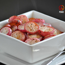 Butter Roasted Radishes