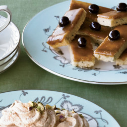 Butterscotch-Glazed Coffee Shortbread Bars