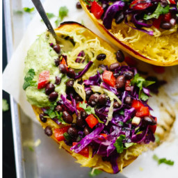 Cabbage and Black Bean Slaw Burrito Bowl
