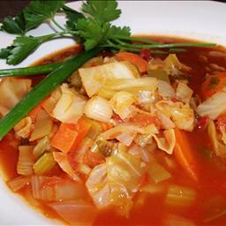 Cabbage And  Sausage Soup