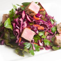 Cabbage Salad & Fish or Tofu