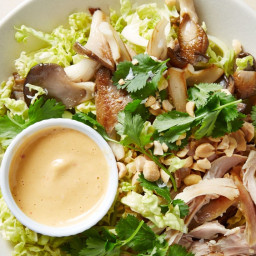 Cabbage Slaw with Chicken, Peanuts, and Kimchi