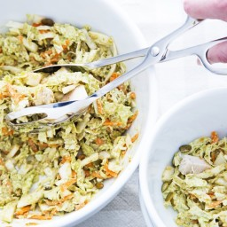 Cabbage Slaw With Orange-Pumpkin Seed Dressing