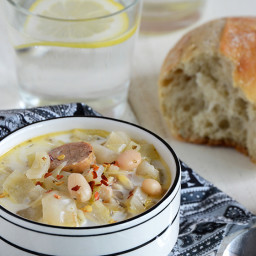Cabbage, White Bean, and Sausage Soup