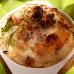 Cabbage Carbonara Gratin